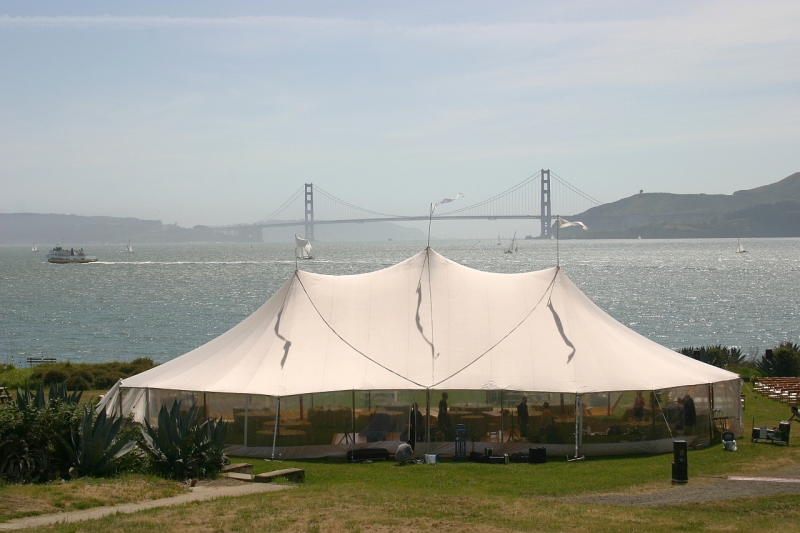 Top five locations for a tented wedding in the san francisco bay bay area tent friendly wedding venues angelislandday sm junglespirit Gallery