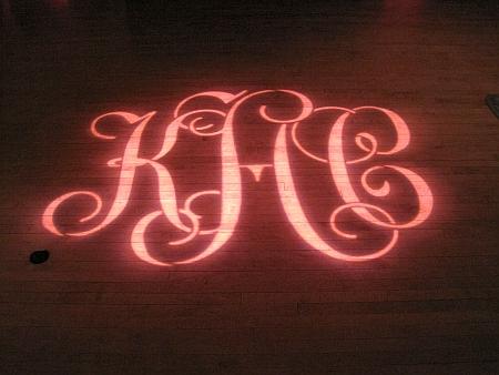 menlo circus club monogram gobo