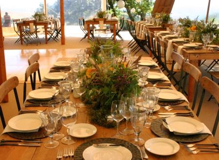 Petaluma wedding farm tables