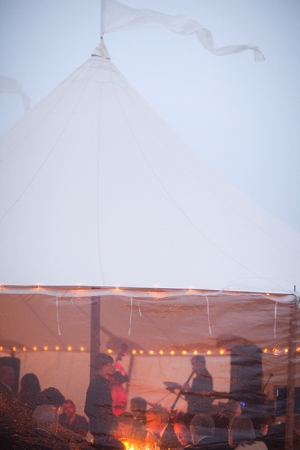 GG band in tent