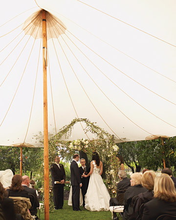 Martha Stewart ceremony tent