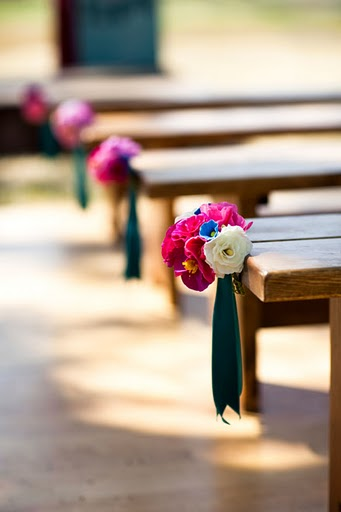 benches with flowers