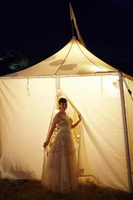 hello lucky bridal tent