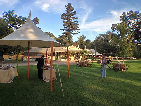 llano seco ranch cocktail tent