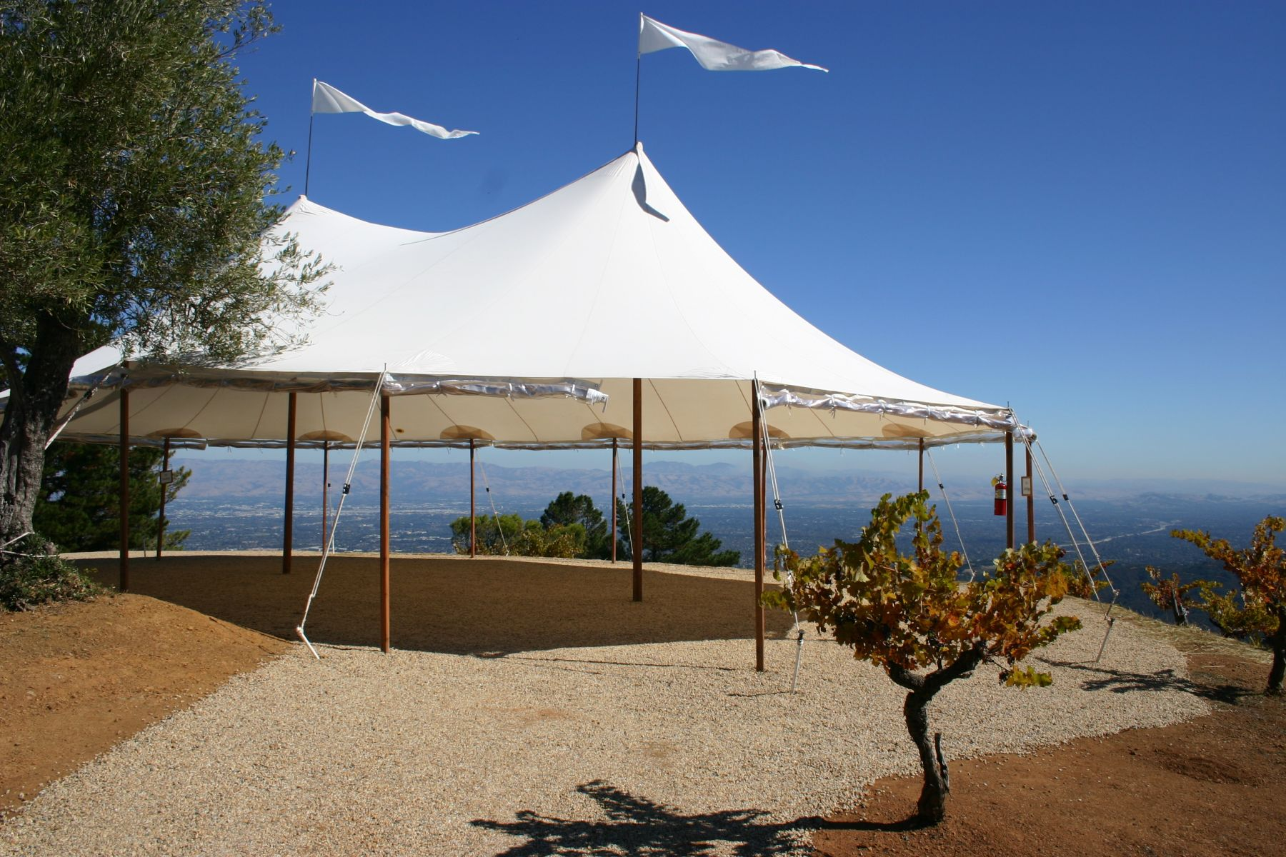 32 x 50 Sperry tent ridge winery cocktail canopy