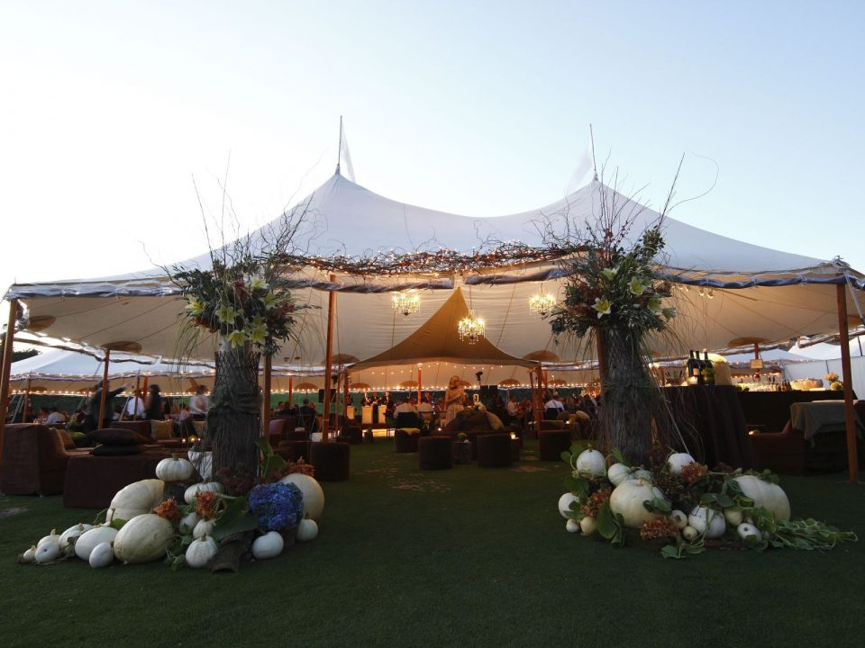 A stretch tent is a great way to celebrate your anniversary.