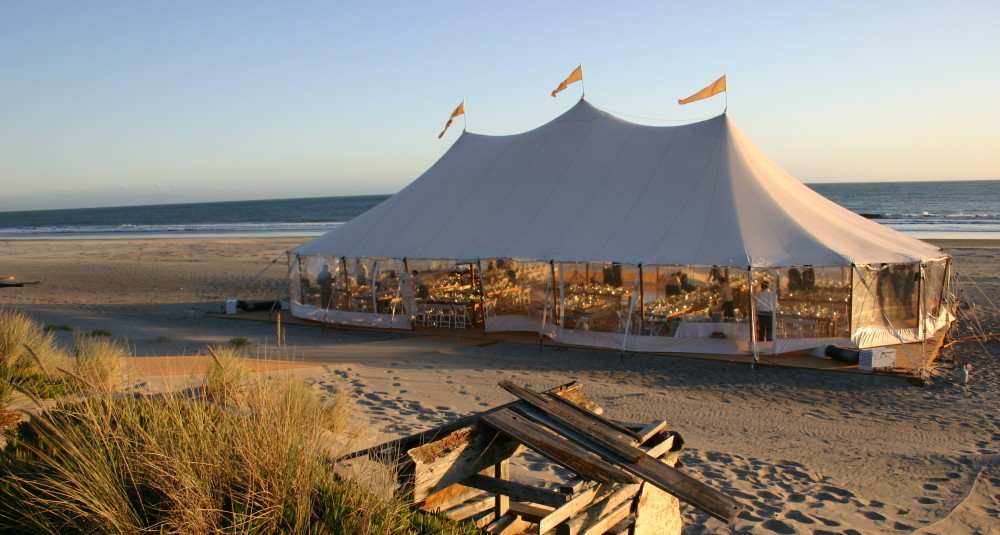 Stinson Beach wedding tent & ZephyrTentsZephyrTents - Sperry tents for rent for California ...