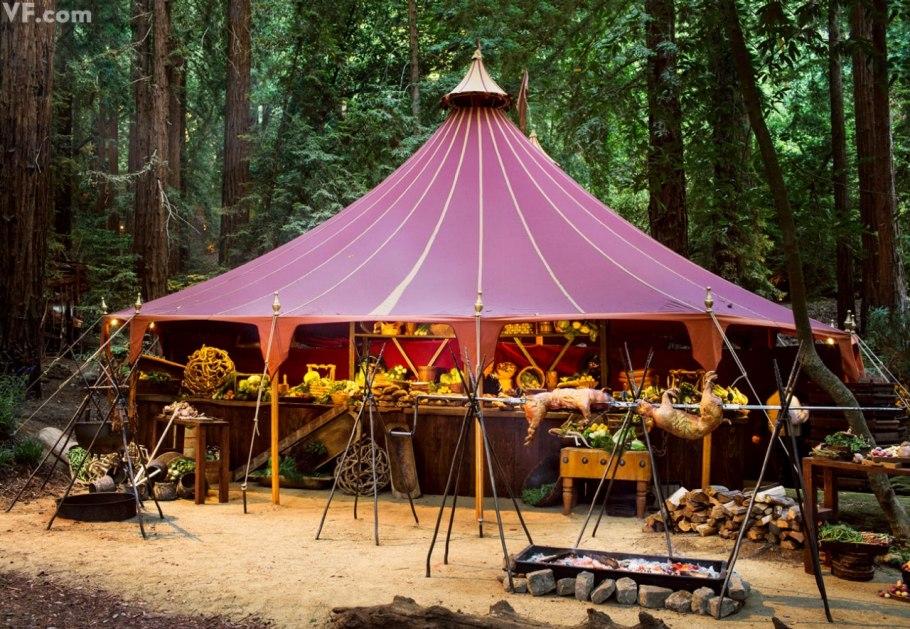 big sur wedding - catering tent