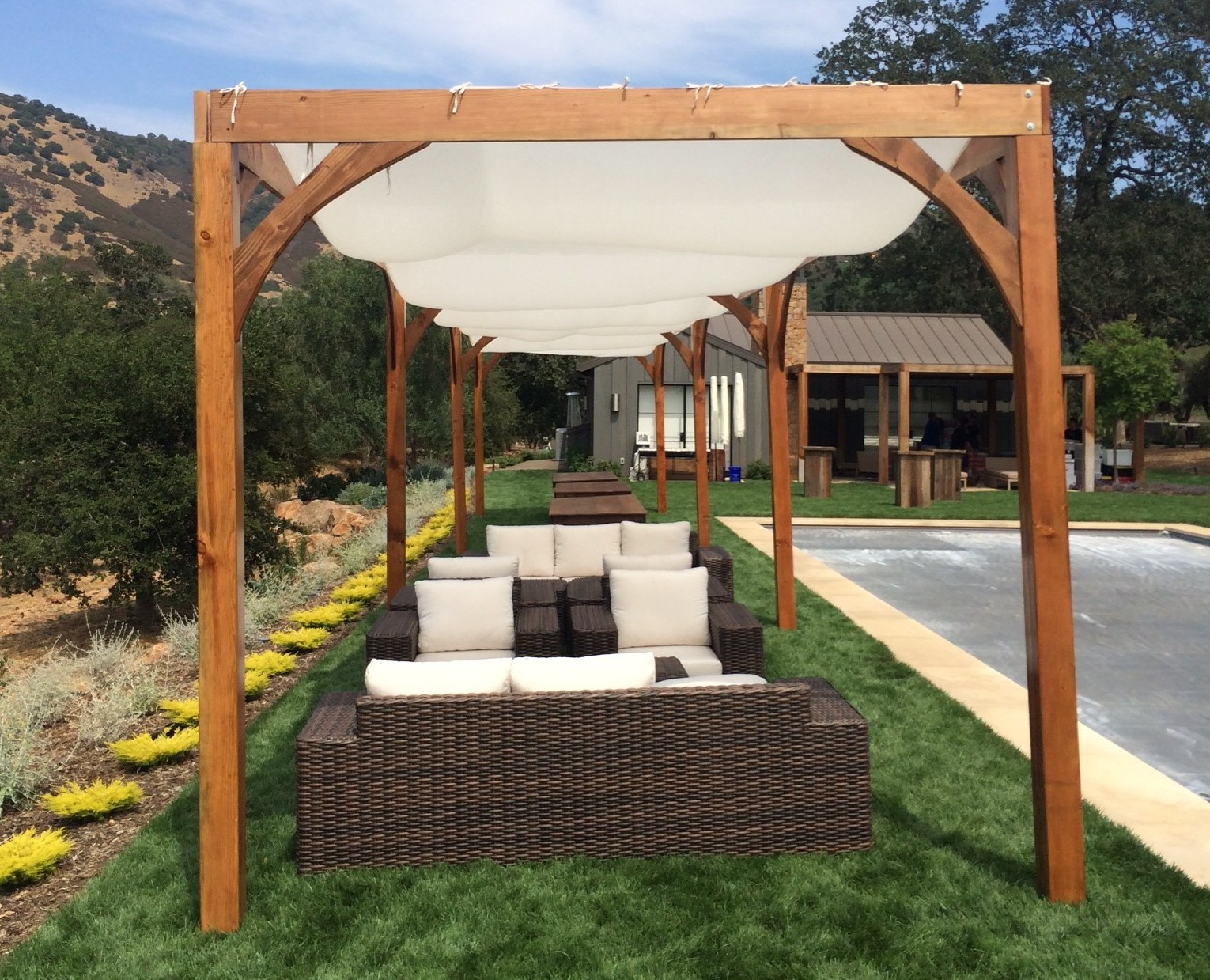 Wooden patio shade structures modern patio outdoor for Shade structures