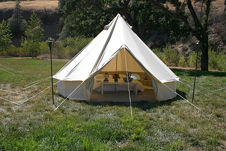 Zephyr Tents imports beautiful canvas bell tents for those event sites requiring a place for guests to stay the night in style. Available for purchase only. & Bell Tents u2013 ZephyrTents u2013 Sperry Sailcloth Tents for California ...