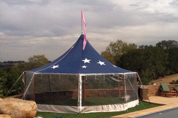 24' Round Blue Star Tent